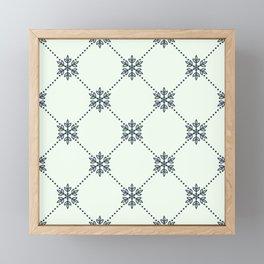 Christmas Snowflake Wallpaper Pattern Framed Mini Art Print