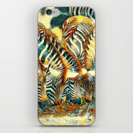 AnimalArt_Zebra_20170602_by_JAMColorsSpecial iPhone Skin
