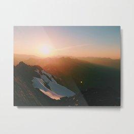 Alpenglow Metal Print
