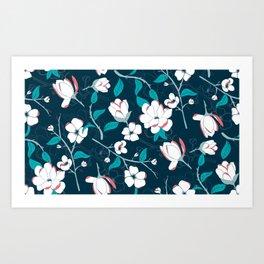 Southern Charm - Manolias Art Print