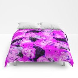 Golden Girls Toss in Electric Pop Pink Comforters