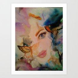 abstract, illustration, painting, photo, art Art Print
