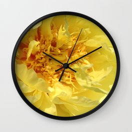 Golden peony Wall Clock