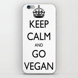 Keep Calm and Go Vegan iPhone Skin
