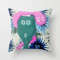 vampire Throw Pillows featuring vampire  by di yirou