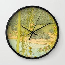 Gaston de Latenay Illustration from Nausicaa 1899 Vintage Pastel Landscape Fantasy Illustration Wall Clock