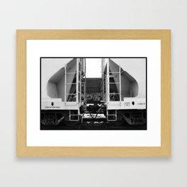 Train Symmetry Framed Art Print