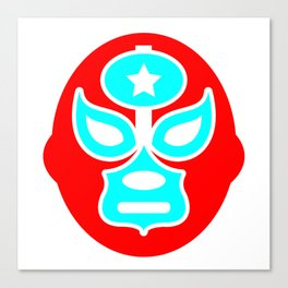 Mexican Wrestling Red Mask Canvas Print