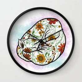 Pretty Cat Nap Wall Clock