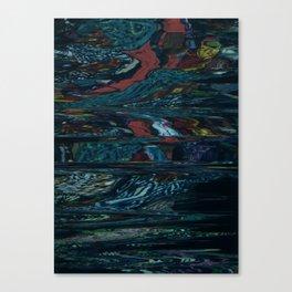Digital Waterfall Canvas Print
