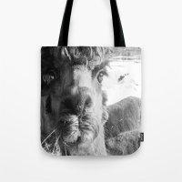 alpaca Tote Bags featuring Alpaca by WoosterTheRooster