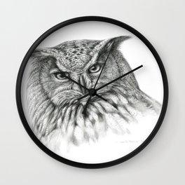 Owl (G2-011)  bubo bubo  Wall Clock