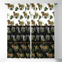 African animals Blackout Curtain