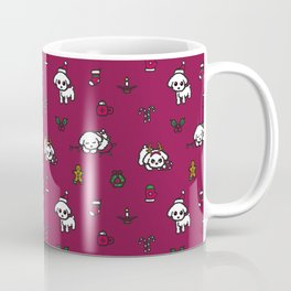 Poodle Christmas Pattern Coffee Mug
