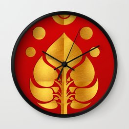 Bodhi Tree0301_GoldenDAY Wall Clock