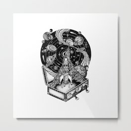 Space Travel Metal Print
