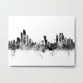 Abu Dhabi Skyline Metal Print
