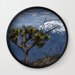 Joshua Tree at Keys View in Joshua Park National Park viewing the Little San Bernardino Mountains Wall Clock