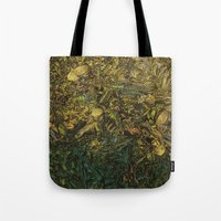 green arrow Tote Bags featuring Green Arrow  by MelissaMoffatCollage