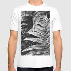 Abstract Black and White 3 Mens Fitted Tee White MEDIUM
