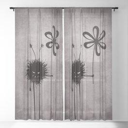 Evil Flower Bug Sheer Curtain