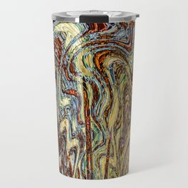 Scramble - Digital Abstract Expressionism Travel Mug