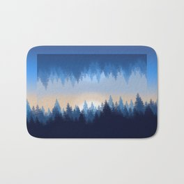 Winter Pines Reflected Bath Mat