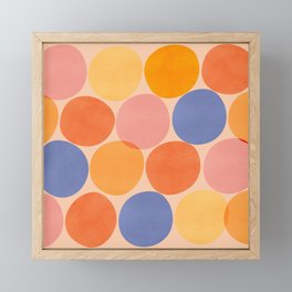 Summer Dots / Abstract Shapes Framed Mini Art Print