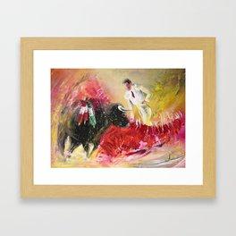 The Red Barrier Framed Art Print