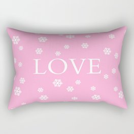 Winter Love - pink - more colors Rectangular Pillow