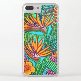Tropical Gems Clear iPhone Case