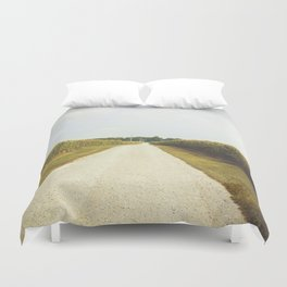 Indiana Corn Field Summers Duvet Cover