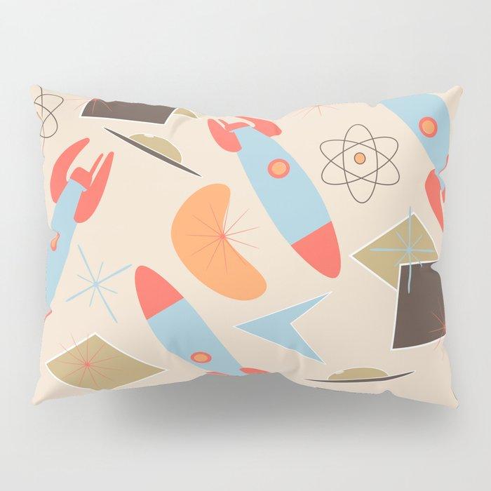 Retro Rocket Ship II Pillow Sham