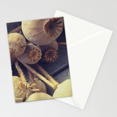 poppy pods Stationery Cards