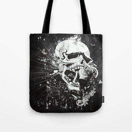 Dark Gothic Skull Tote Bag