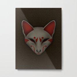 Kitsune Kabuki Metal Print