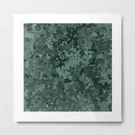Green Micro Camo (Camouflage) Pattern Metal Print