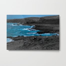 Black & Blue Shoreline Metal Print
