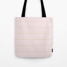 Pink Geometric Lines Tote Bag