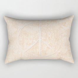 Peace in peach Rectangular Pillow