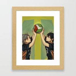 Together on the court Framed Art Print