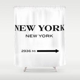 gossip girl sign Shower Curtain