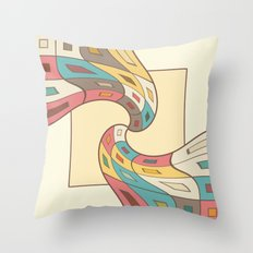 Geometric abstract Throw Pillow