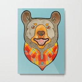 Bear Gone Fishin' Metal Print
