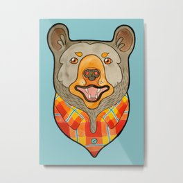 Bear Gone Fishin' Metal Print