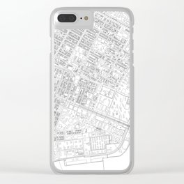 Abstract Map of New York City Manhattan Lower East Side Clear iPhone Case