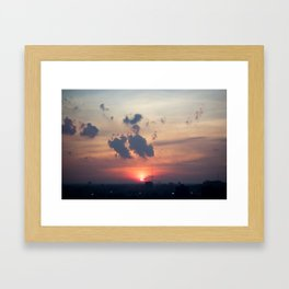 Detroit Sunset 1  Framed Art Print