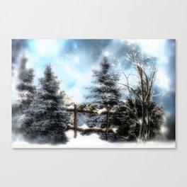 Winterwald Canvas Print