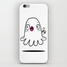 Black white and fucsia monster iPhone & iPod Skin