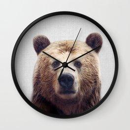 Bear - Colorful Wall Clock